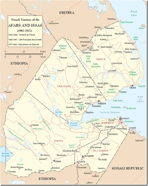 Afars and Issas map