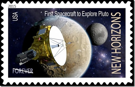 Artist's concept of proposed New Horizons stamp