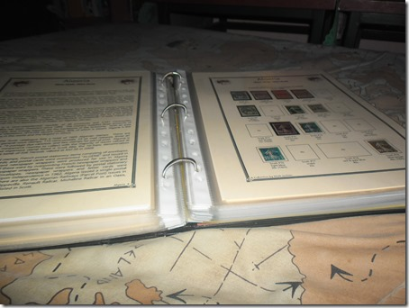 First pages of Algeria housed in generic three-ring binder, March 2016