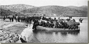 Italian forces landing in the Dodecanese, 1912