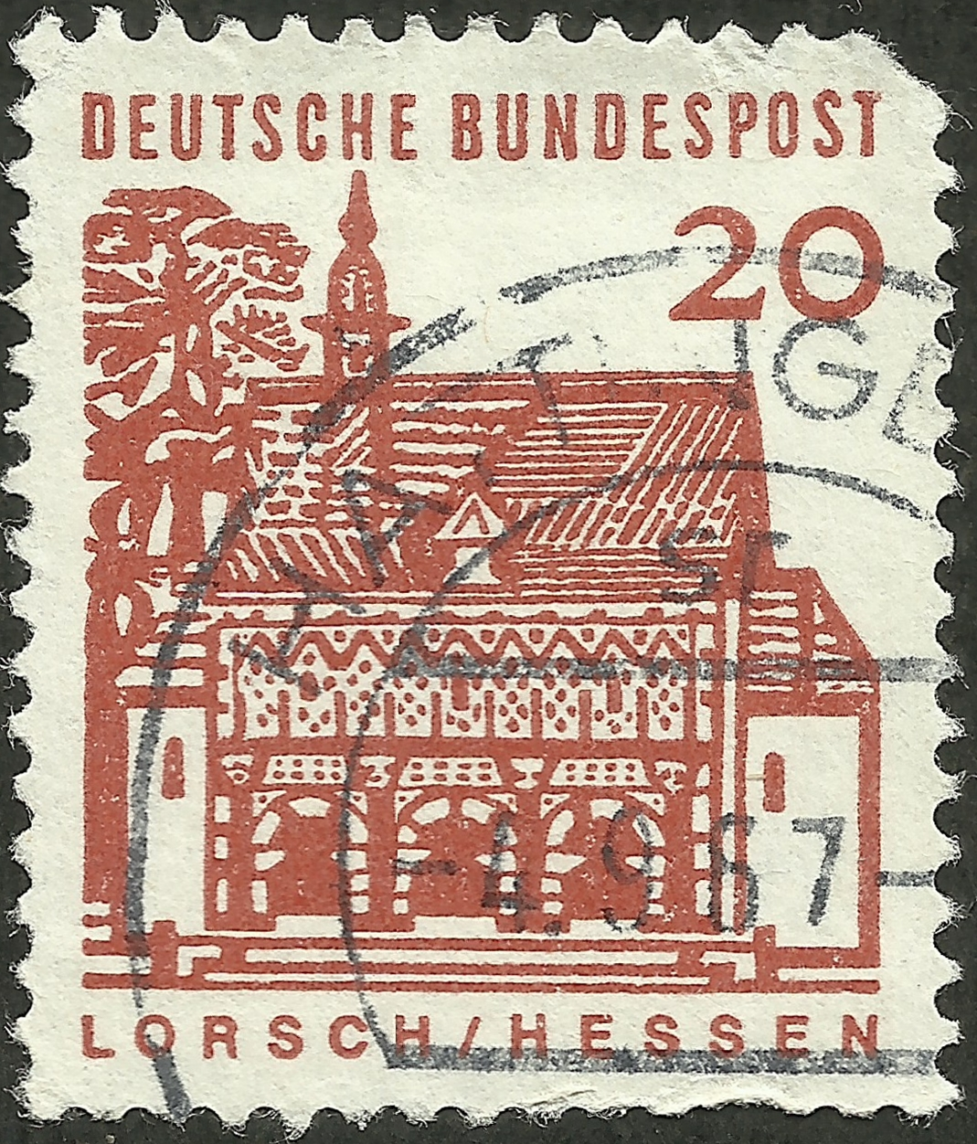 Federal Republic of Germany #905 (1965) postmarked 4 September 1967