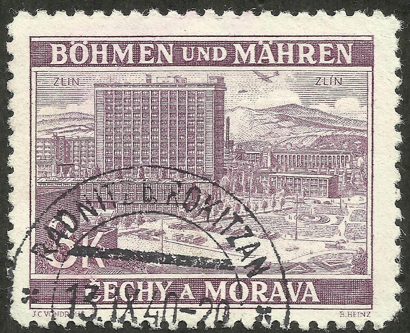 Bohemia and Moravia #35 (1939) postmarked 13 September 1940