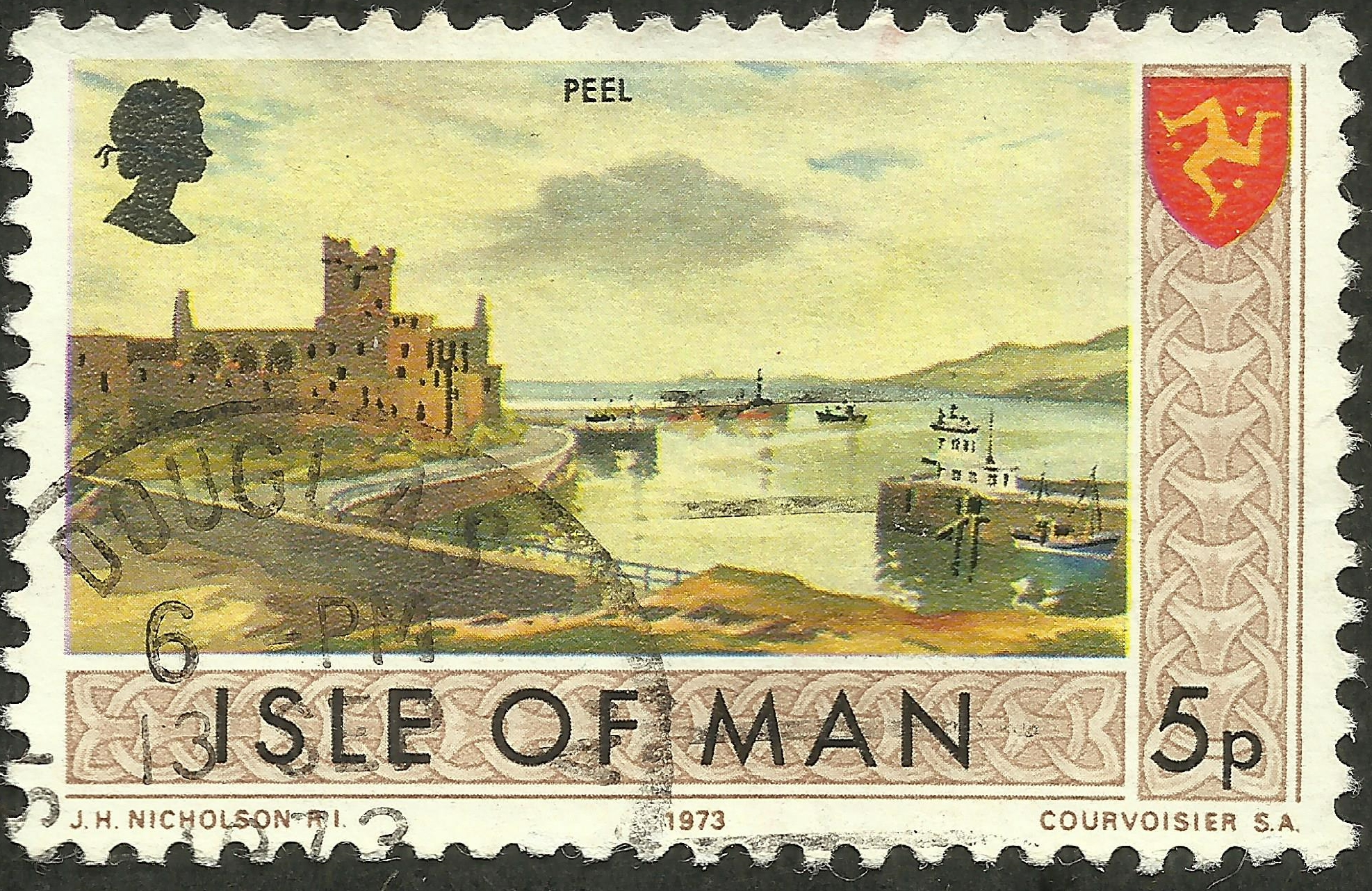Isle of Man #20 (1973) postmarked 13 September 1973