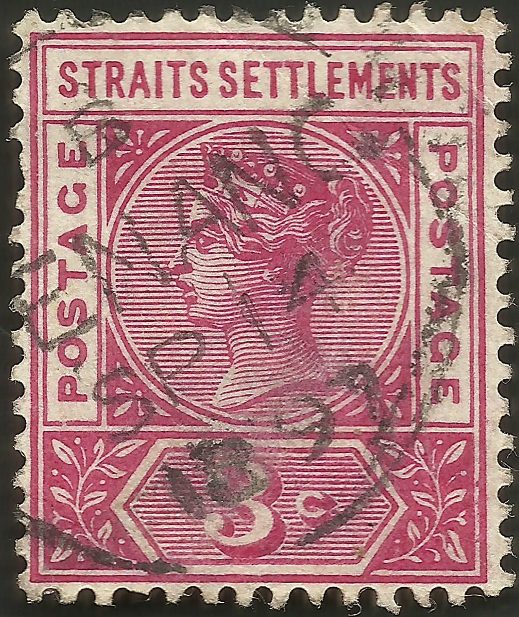 Straits Settlements #84 (1895) postmarked 14 September 1897 Penang (present-day Malaysia)