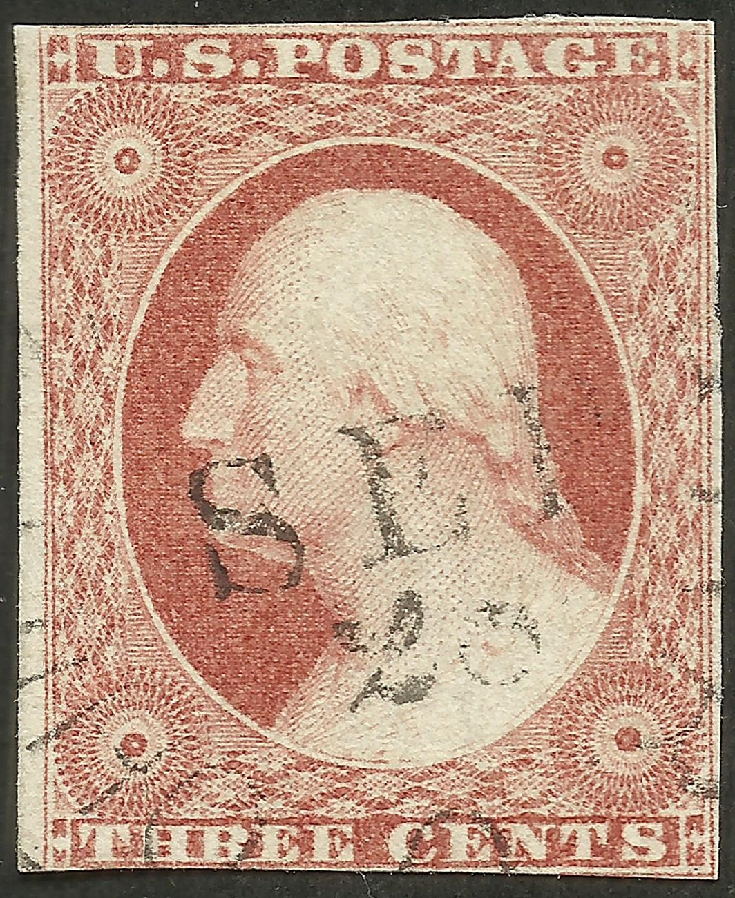 United States #11A (1851) postmarked 28 September 18xx
