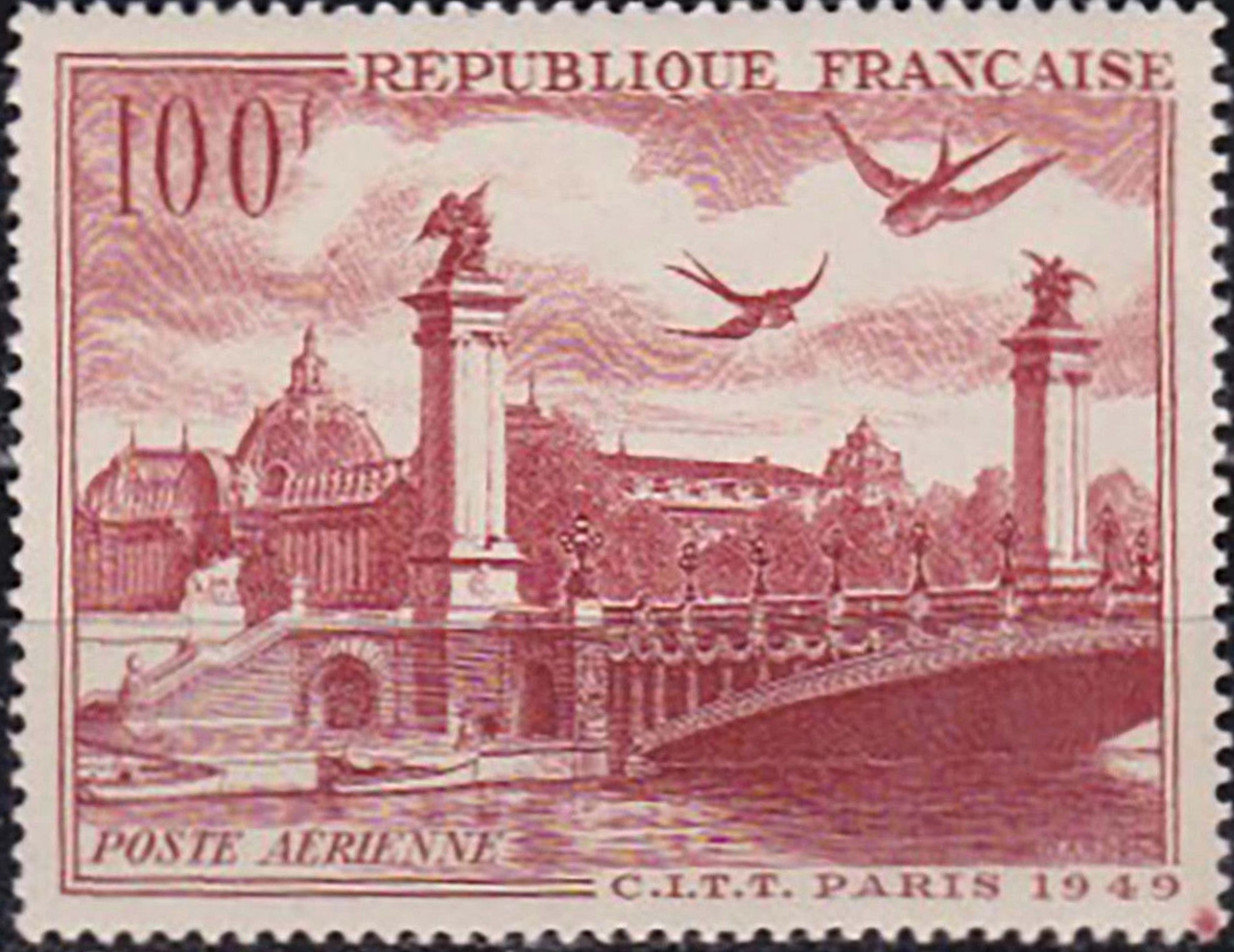 France - Scott #C28 (1949) mint, never hinged