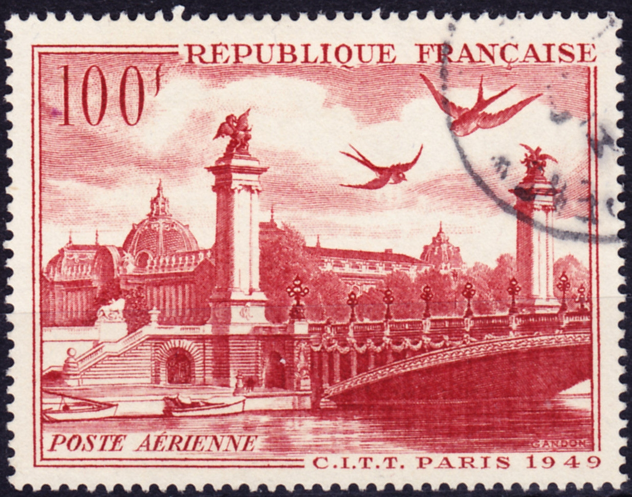 France - Scott #C28 (1949) used (1)